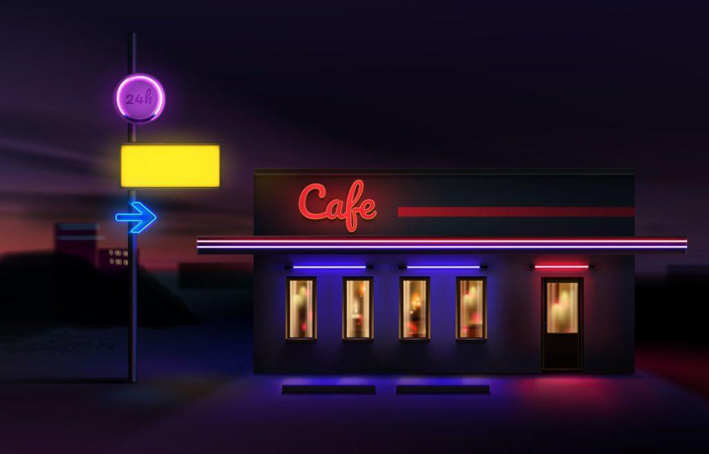 Luci Al Neon Per Ufficio.Storia Delle Insegne Luminose Al Neon E Al Led Diellebuilding